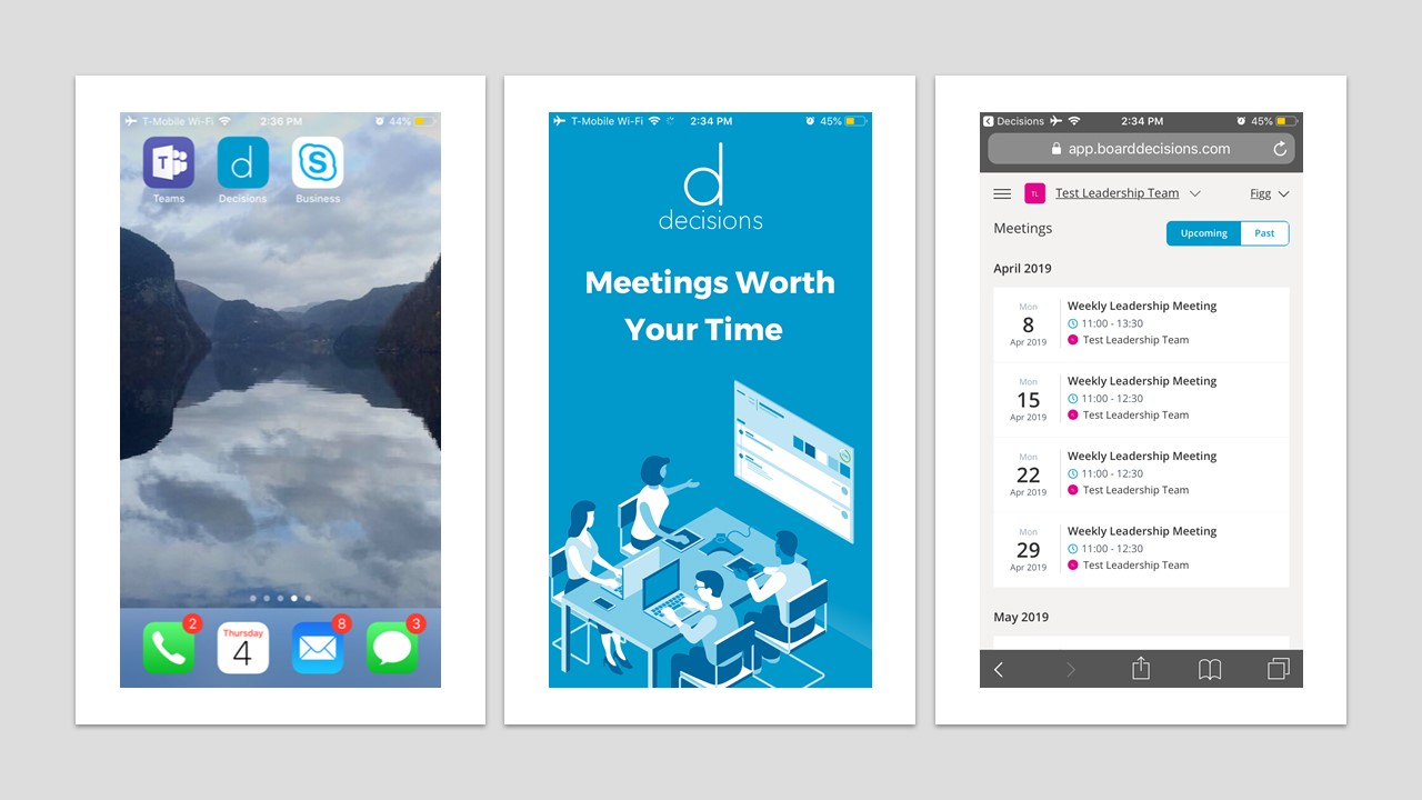 mobile view screen shots
