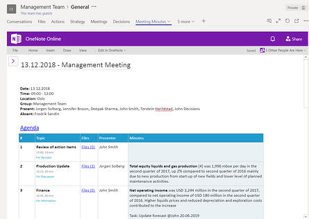 Supercharge OneNote with Decisions for more successful meetings