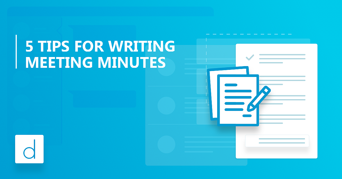 How to write great meeting minutes
