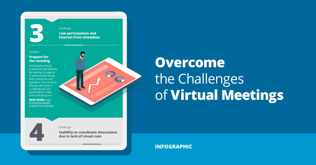 Overcome the biggest virtual meeting challenges (an infographic)